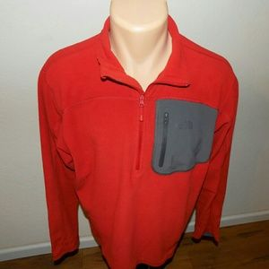 The North Face | Red 1/2 Zip fleece Pullover SZ M